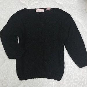 Black Loose Knit Sweater